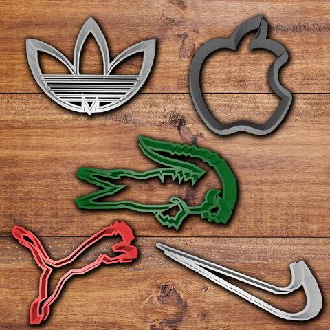 Download 3D printing templates Famous Brands cookie cutter set, davidruizo