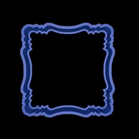 marco3.jpg Download STL file Vintage Frame cookie cutter set 2 • 3D printable design, davidruizo
