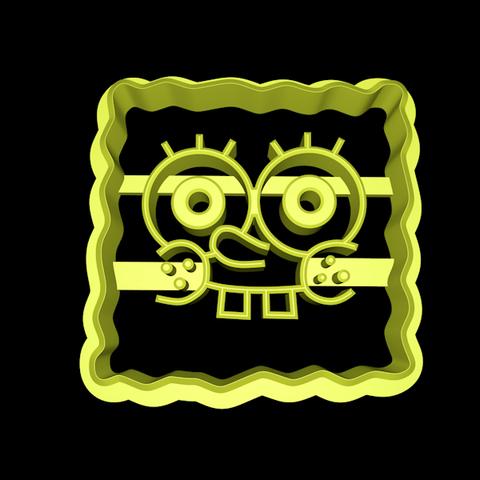 spongebobcookiecutter.png Download STL file Spongebob Squarepants cookie cutter set • Object to 3D print, davidruizo