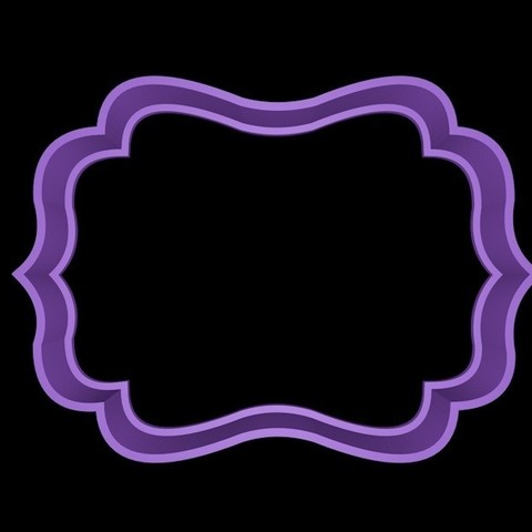 marco 2.jpg Download STL file Vintage Frame cookie cutter set • 3D printer design, davidruizo