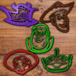 STL Toy Story Cookie cutter set, davidruizo