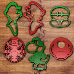 Télécharger objet 3D Mario bros Cookie cutter set 2, davidruizo