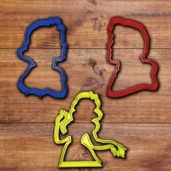 Download 3D printing designs Disney Snow White cookie cutter set, davidruizo