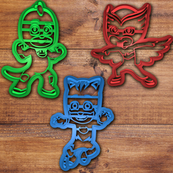 Download STL file Pj Masks cookie cutter set  • 3D printer design, davidruizo