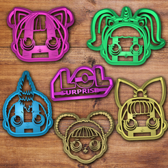3D print model L.O.L Surprise cookie cutter set , davidruizo