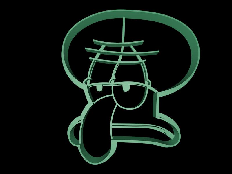 Thaddeus.png Download STL file Spongebob Squarepants cookie cutter set • Object to 3D print, davidruizo
