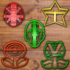 Descargar modelos 3D para imprimir Juego de cortadores de galletas Mario y Luigi, davidruizo