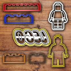 3D printer files Lego cookie cutter set, davidruizo