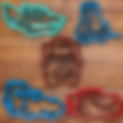 Télécharger STL Voitures film film cookie cutter set, davidruizo