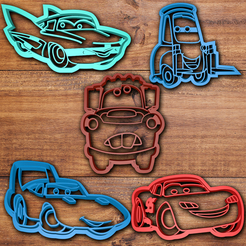 3D print files Cars movie cookie cutter set, davidruizo