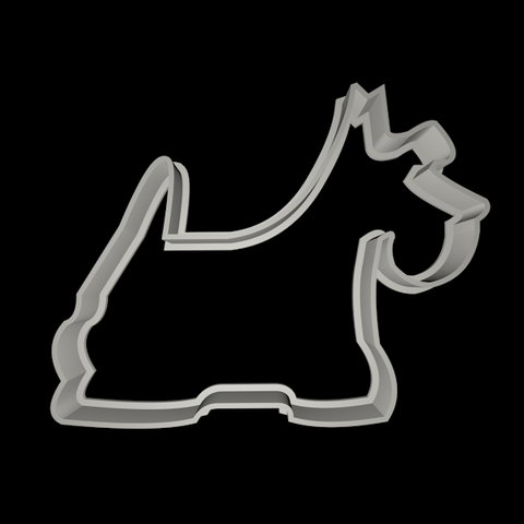 scootie dog.png Download STL file Dog cookie cutter set • 3D printing design, davidruizo
