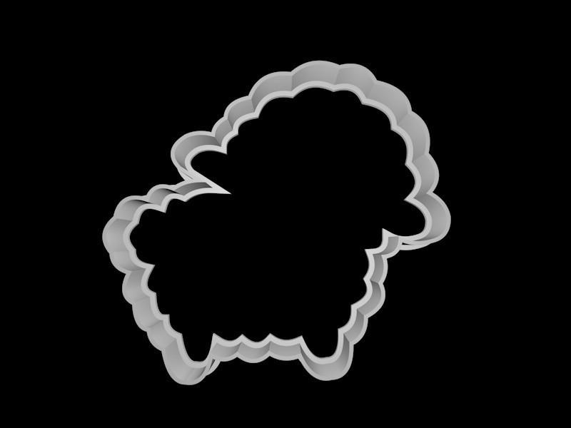 lamb.jpg Download STL file Fancy Animals cookie cutter set • 3D printable model, davidruizo