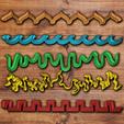 3D print files Shaped fondant/cookie cutters set, davidruizo