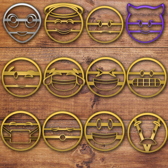 Download STL files Emoji cookie cutter set , davidruizo