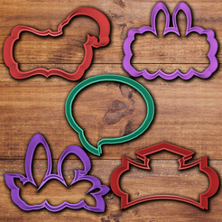 Download 3D printer files Frame cookie cutter set, davidruizo