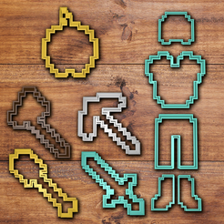 Télécharger STL Minecraft Cookie cutter set, davidruizo