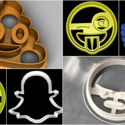 Download 3D printing designs Emoji cookie cutter set, davidruizo