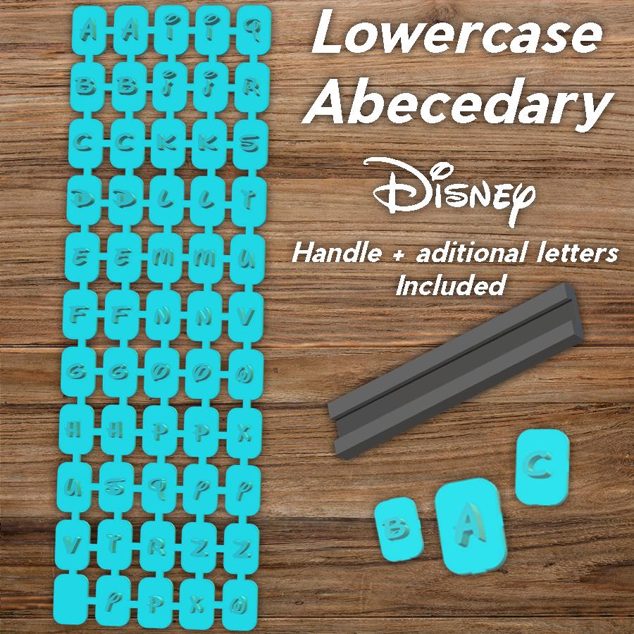 Todo.png Download STL file Disney Abecedary Stamp LowerCase Letters • 3D printer model, davidruizo