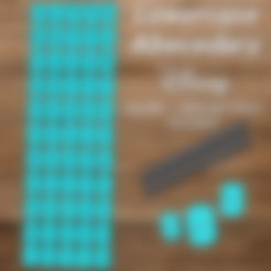 Abecedario minuscula Disney V2.stl Download STL file Disney Abecedary Stamp LowerCase Letters • 3D printer model, davidruizo