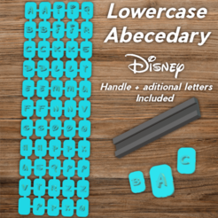 Todo.png Download STL file Disney Abecedary Stamp LowerCase Letters • 3D printer model, davidruizo