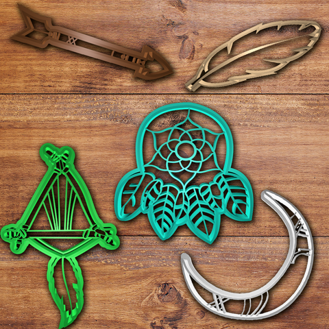 Download 3D printing models Dream catcher cookie cutter set, davidruizo