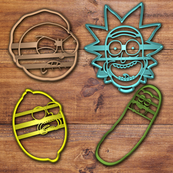 Télécharger fichier STL Ensemble de coupe-biscuits Rick et Morty, davidruizo