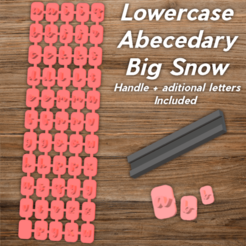 Todo.png Download STL file Abecedary Stamp V2 LowerCase Letters • 3D printing object, davidruizo