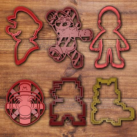 Download 3D printer templates Mario bros Cookie cutter set , davidruizo