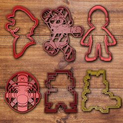 Télécharger modèle 3D Mario bros Cookie cutter set, davidruizo