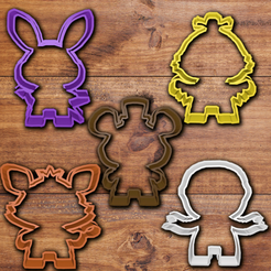 Download 3D print files FNAF cookie cutter set, davidruizo