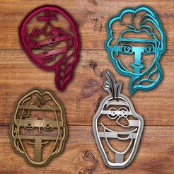 3D print model Disney Frozen cookie cutter set, davidruizo