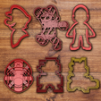 Download STL files All high detailed cookie cutter sets (+150 cookie cutters), davidruizo