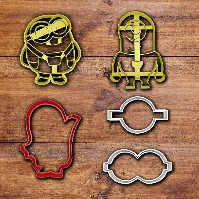 Sin-título-1.jpg Download STL file Minions cookie cutter set • 3D printable object, davidruizo