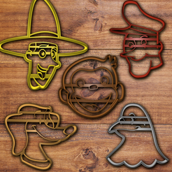 Download 3D printing templates Curious George cookie cutter set, davidruizo