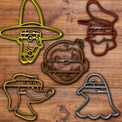 Descargar archivos STL Juego de cortador de galletas Curious George, davidruizo