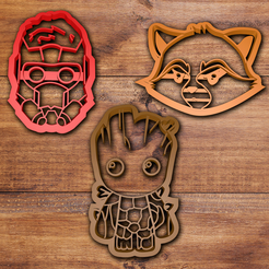 3D printer models Guardians of the Galaxy cookie cutter set, davidruizo