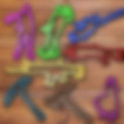 dance 1.stl Download STL file Fortnite Cookie Cutter Set • 3D printing template, davidruizo