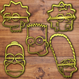 Download 3D printer designs The simpson cookie cutter set, davidruizo