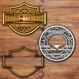 Download 3D printing files Harley Davidson Cookie cutter set, davidruizo