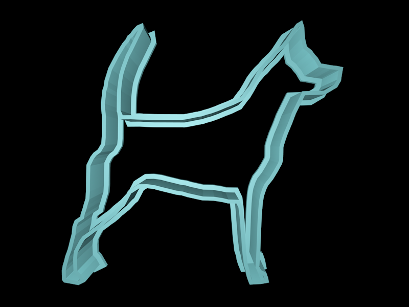huskee (2).png Download STL file Dog cookie cutter set • 3D printing design, davidruizo