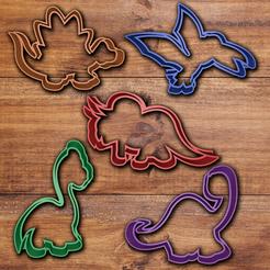 Fichier 3D Ensemble de coupe-biscuits dinosaures, davidruizo