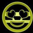 heart eyed emoji.jpg Download STL file Emoji cookie cutter set • 3D print design, davidruizo