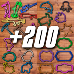 todo00.png Download STL file All cookie cutter sets (+200 cookie cutters) • Object to 3D print, davidruizo