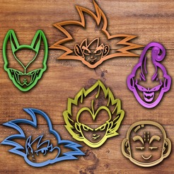 Download STL file Dragon Ball Cookie cutter set, davidruizo