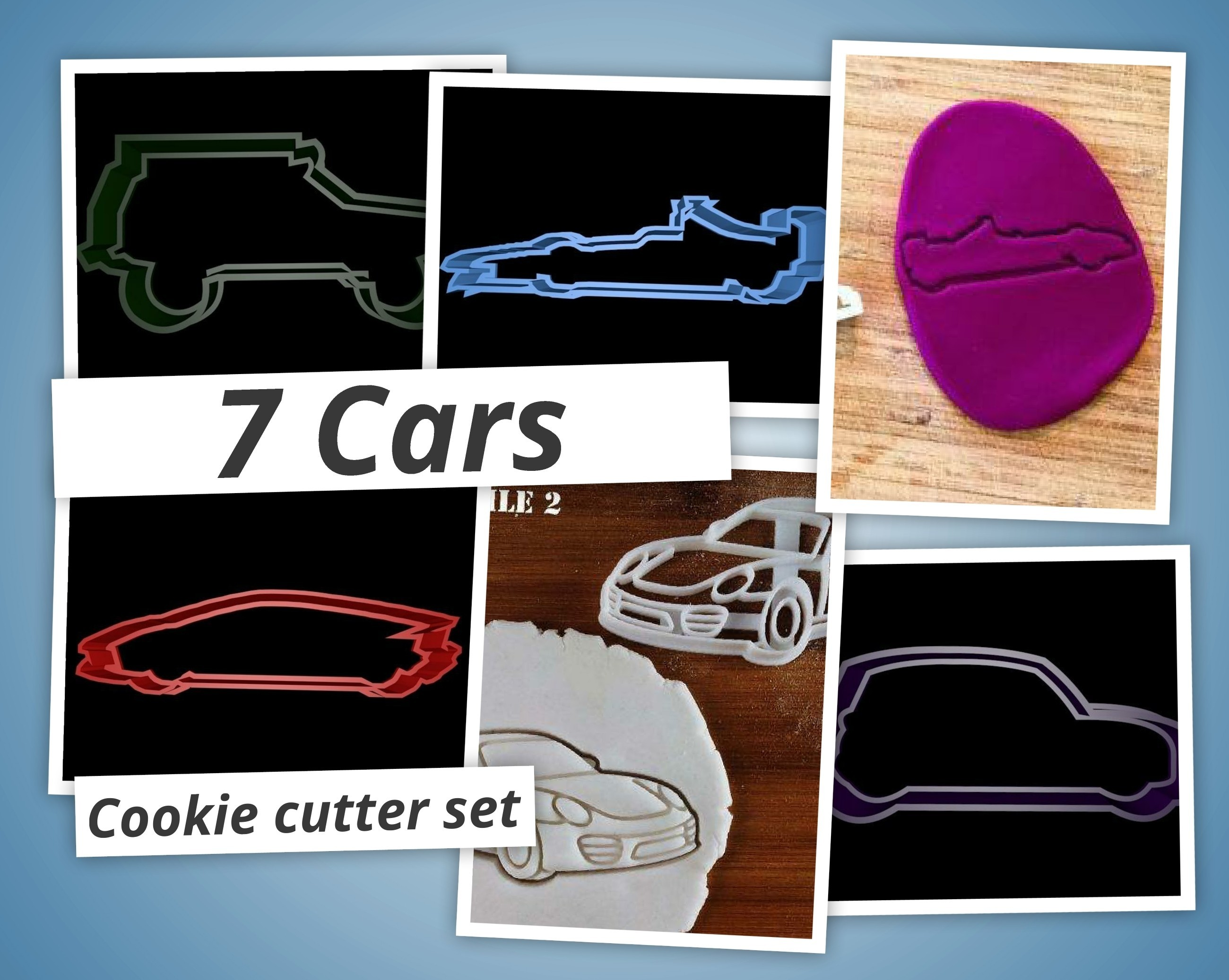 pf_1530259431.jpg Download STL file Cars cookie cutter set • 3D printable object, davidruizo