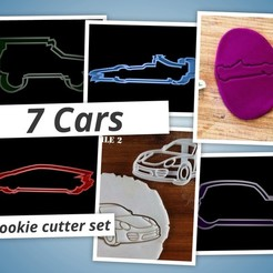 3d print files Cars cookie cutter set, davidruizo