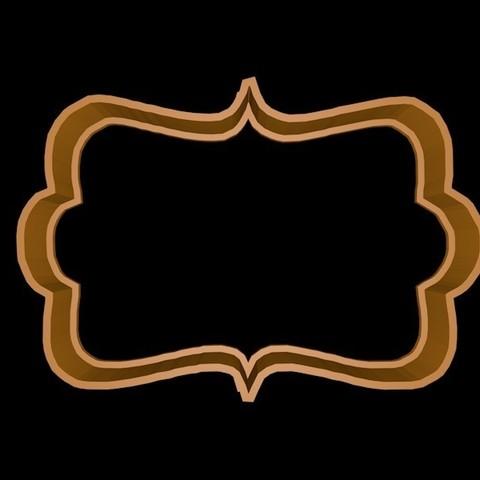 marco 3.jpg Download STL file Vintage Frame cookie cutter set • 3D printer design, davidruizo