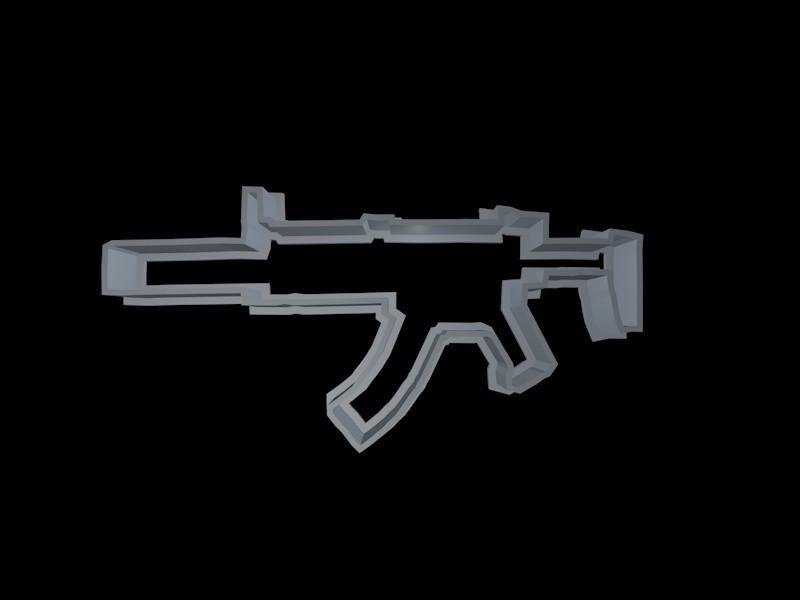 silenced smg.jpg Download STL file Fortnite Cookie Cutter Set • 3D printing template, davidruizo