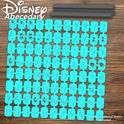 Todo.png Download STL file Disney Abecedary Stamp Capital Letters • 3D printing model, davidruizo