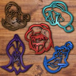 Download 3D printing templates Disney Aladdin cookie cutter set, davidruizo